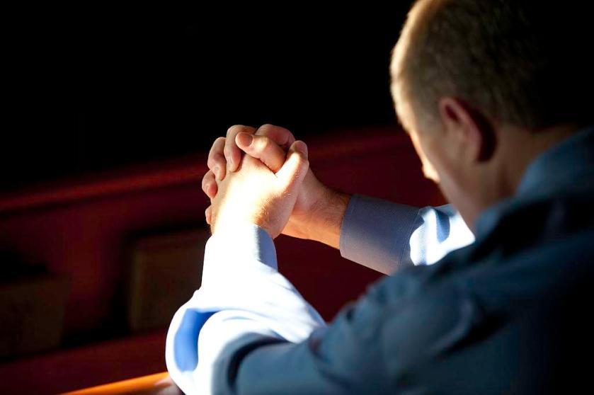 Praying man sm print