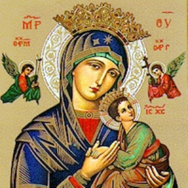 Blessed Mother with baby Jesus atistic docu