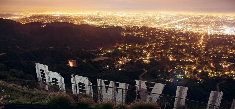 Hollywood hills night lights docu