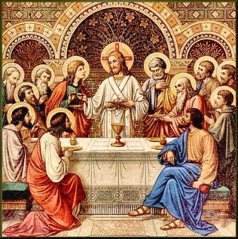 Holy Eucharist with jesus web