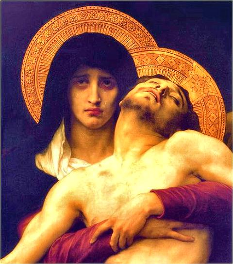 Jesus in Mary's arms web