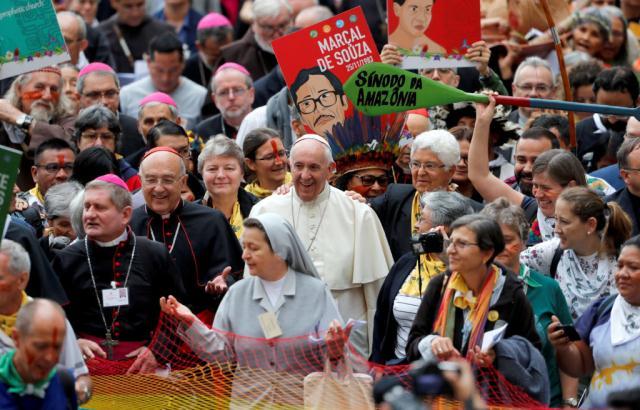 Francis Amazon Synod Pagag pope pachamama web