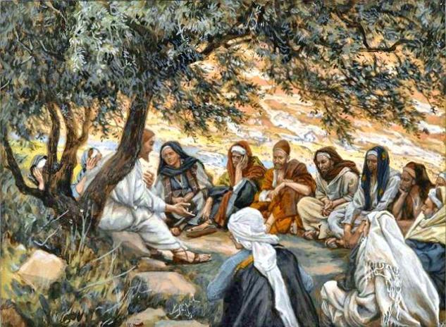 Jesus speaking to diciples web