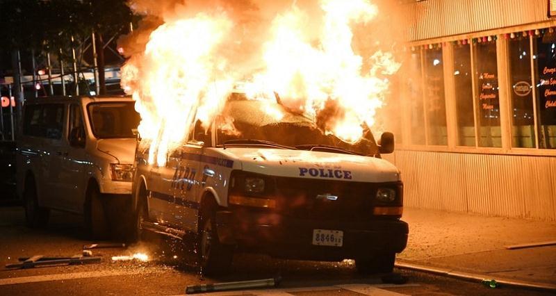 Riots police van docu