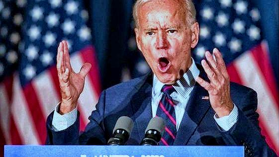 Biden near demon