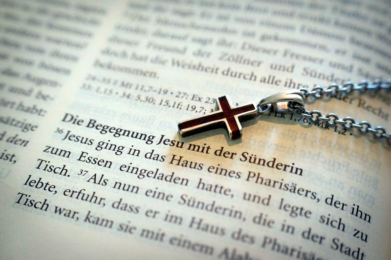 Bible open cross docu