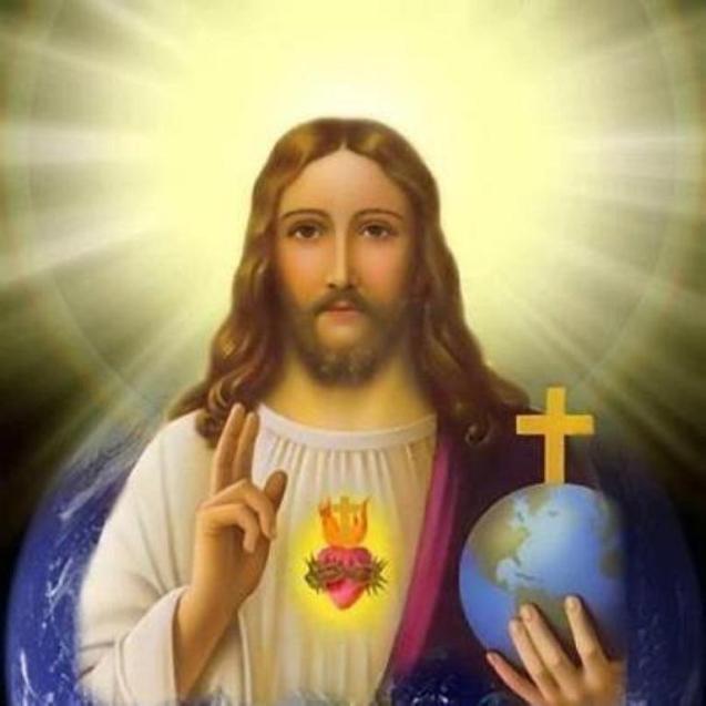 Jesus holding earth sm print jpg