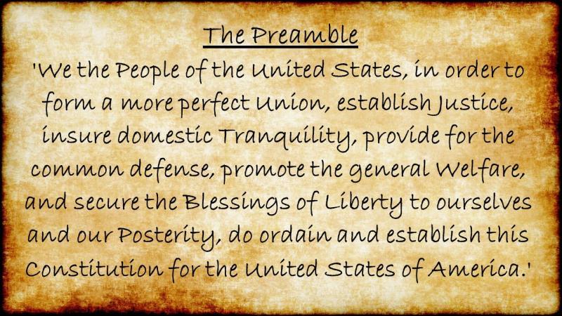 Preamble Constitution docu