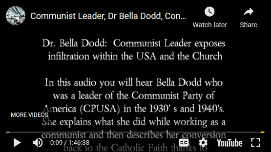 Screenshot_2021-05-20 VIDEO Communist Leader, Dr Bella Dodd, Confesses to Infiltrating the Church USA
