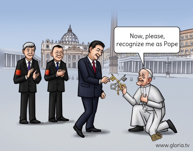 apostata bergoglio traidor de los catolicos chinos