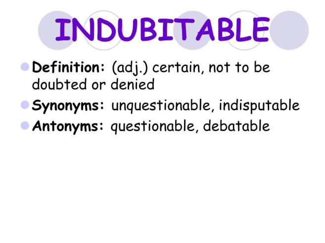 indubitable-l