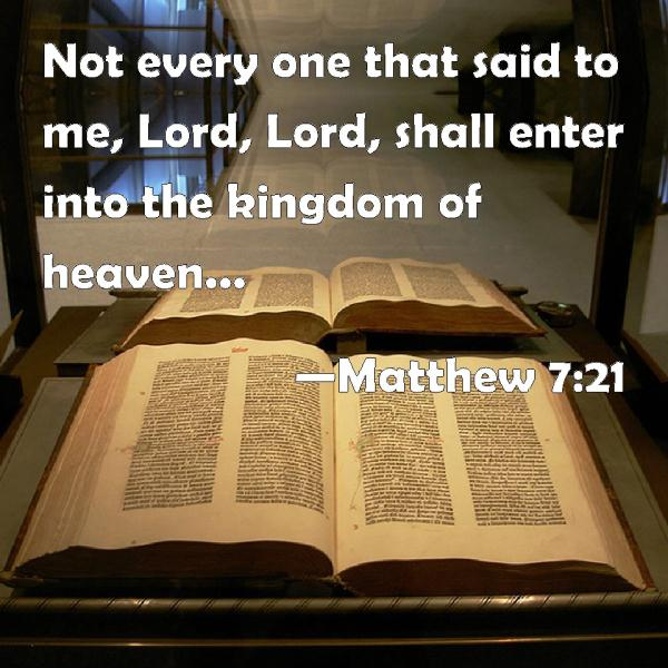 Matthew 7 21