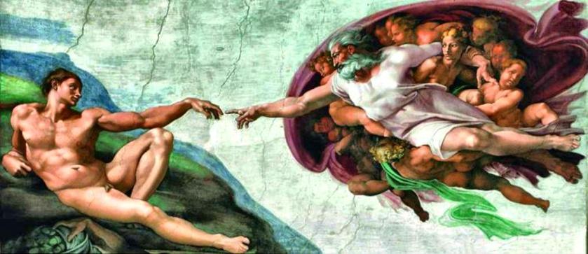 Michelangelo-Sistine-Chapel-Ceiling Sm Print