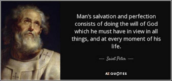 Saint Peter quote sm print