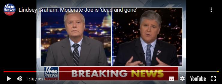 Lindsey Graham: Moderate Joe is 'dead andgone'