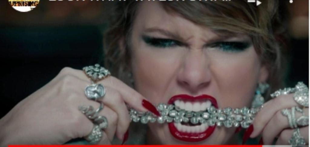 Taylor Swif Demon look and posessed sm print