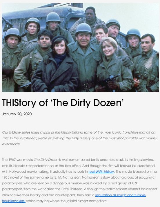 The Dirty Dozen or There's no such thing as anANTI-VAXXER.
