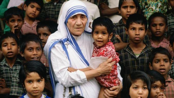 mother teresa with children docu