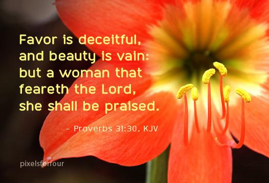 Beauty is vain Bible Verse
