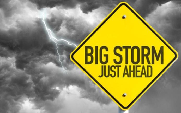 Big Storm Ahead Sm Print