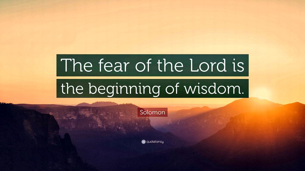 Fear of the Lord wisdom sm print