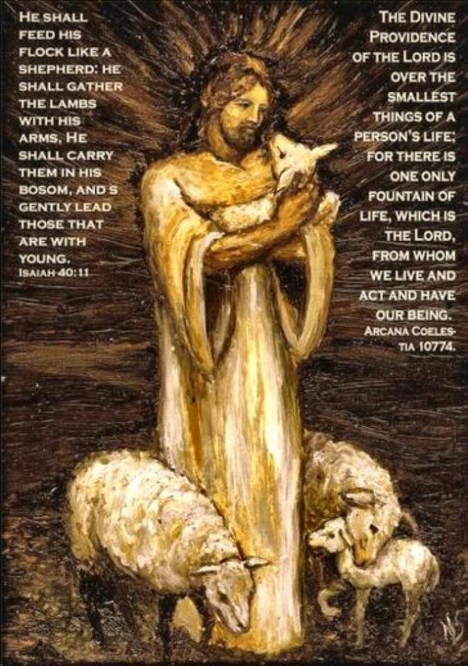 Jesus the Good Shepherd sm print