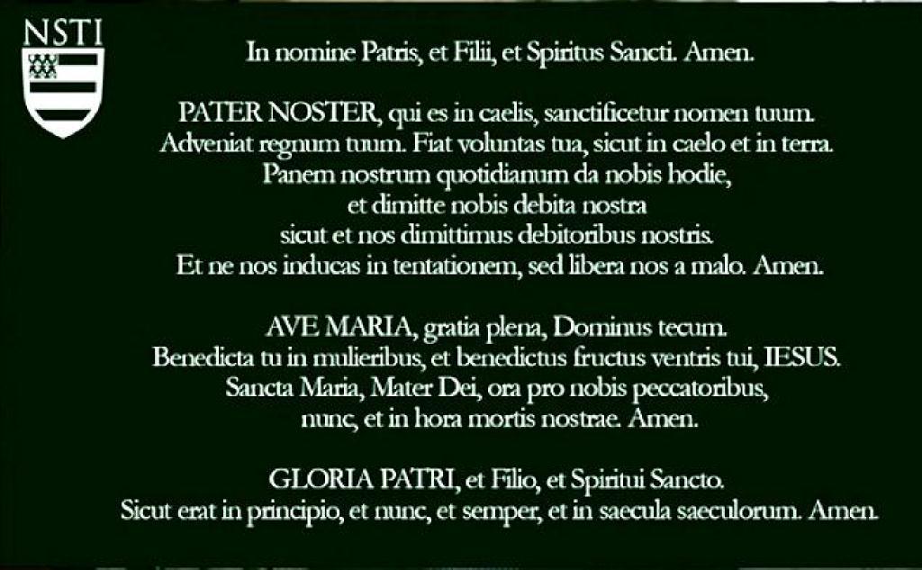 Lords Prayer in Latin sm print