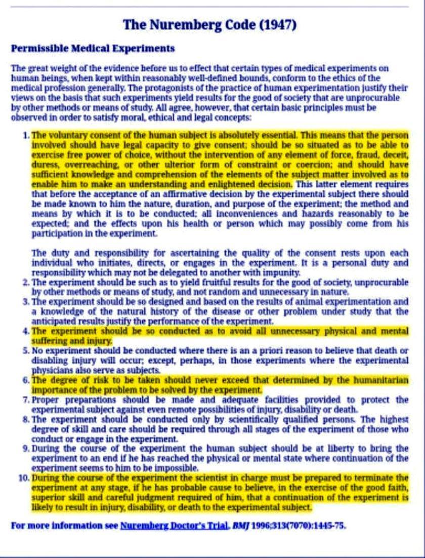Nuremberg Code lg print