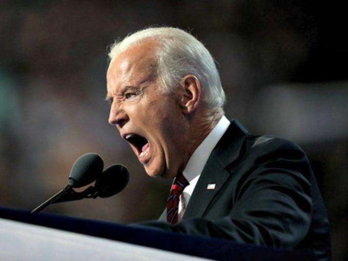 Screaming Biden sm print