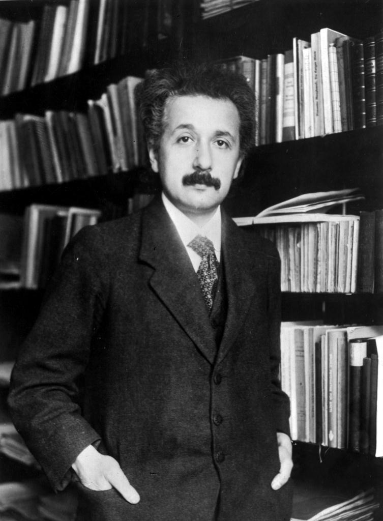 Einstein home library sm print