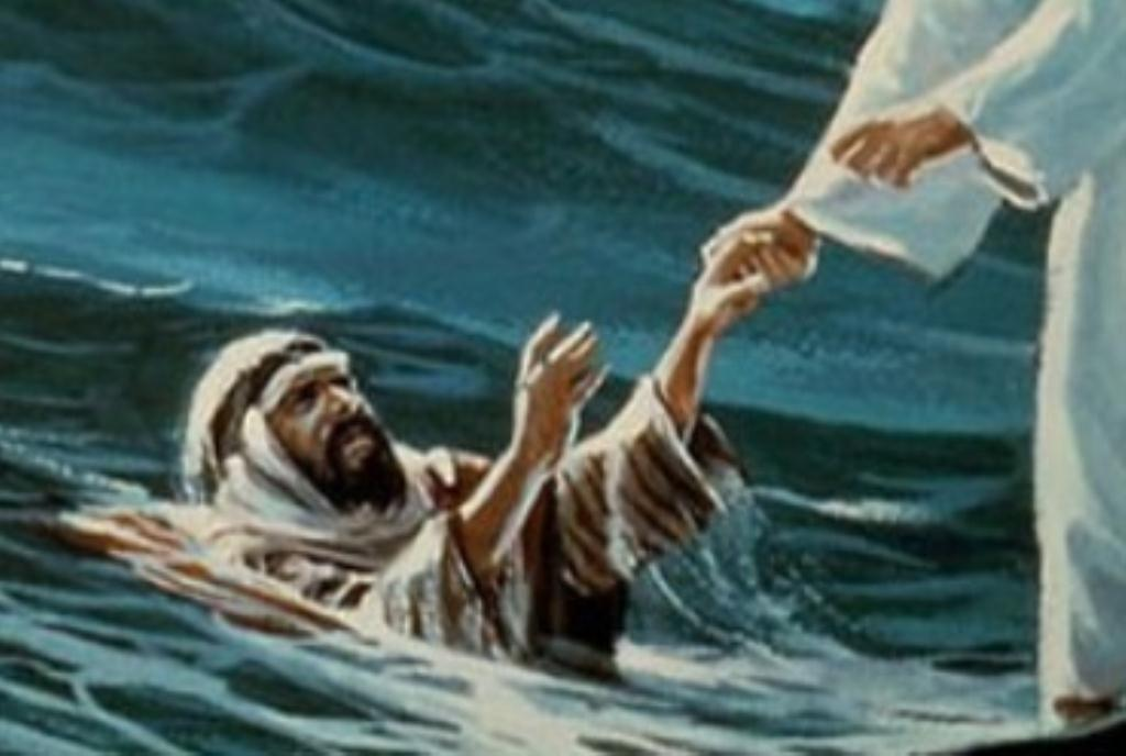 Jesus reaching out sm print