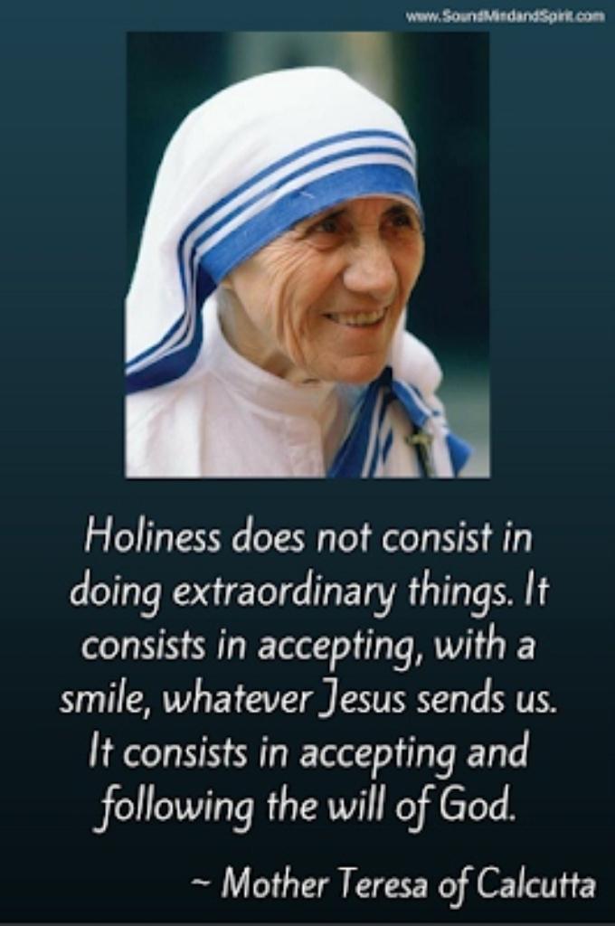 Mother Teresa accept what Jesus sends sm print