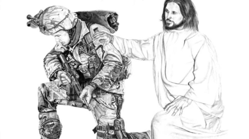 Soldier Jesus Kneeling docu
